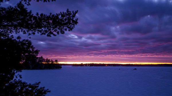 Winter Sunset - Caribou Lake