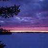 Winter Sunset - Caribou Lake