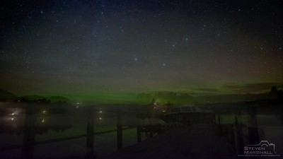 Northern Lights at Loch Shiel Jetty - Acharcle, Ardnamurchan