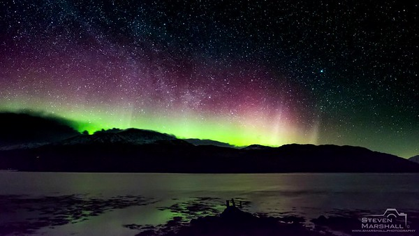 Northern Lights Over Ben Resipole - Viewed from Laudale Estate, Morvern