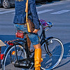 Girl on Bike in Viareggio Italy