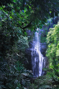 Maui HI - Waterfall on Road to Hana