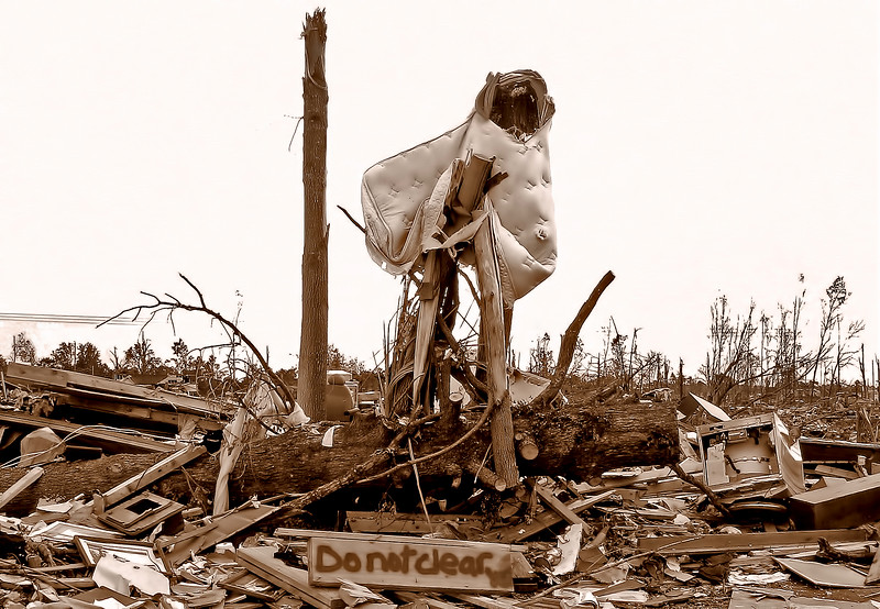 Do Not Clear - April 2011 Tornado Damage Jefferson County Alabama by Carey Spencer Best Digital Shots Photography.