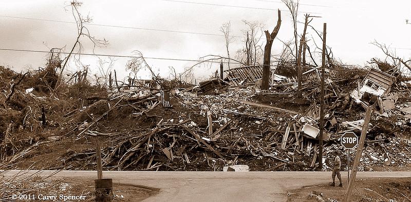 Stop - April 2011 Alabama Tornado Damage near Birmingham Alabama