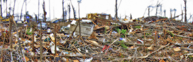 Hillside Havoc - April 2011 Tornado Damage Jefferson County Alabama by Carey Spencer Best Digital Shots Photography