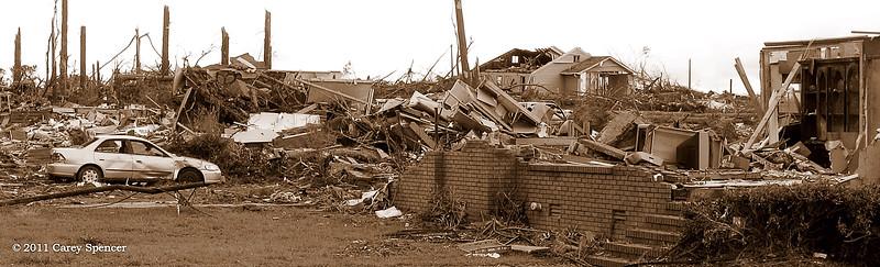 April 2011 Alabama Tornado Damage near Birmingham Alabama