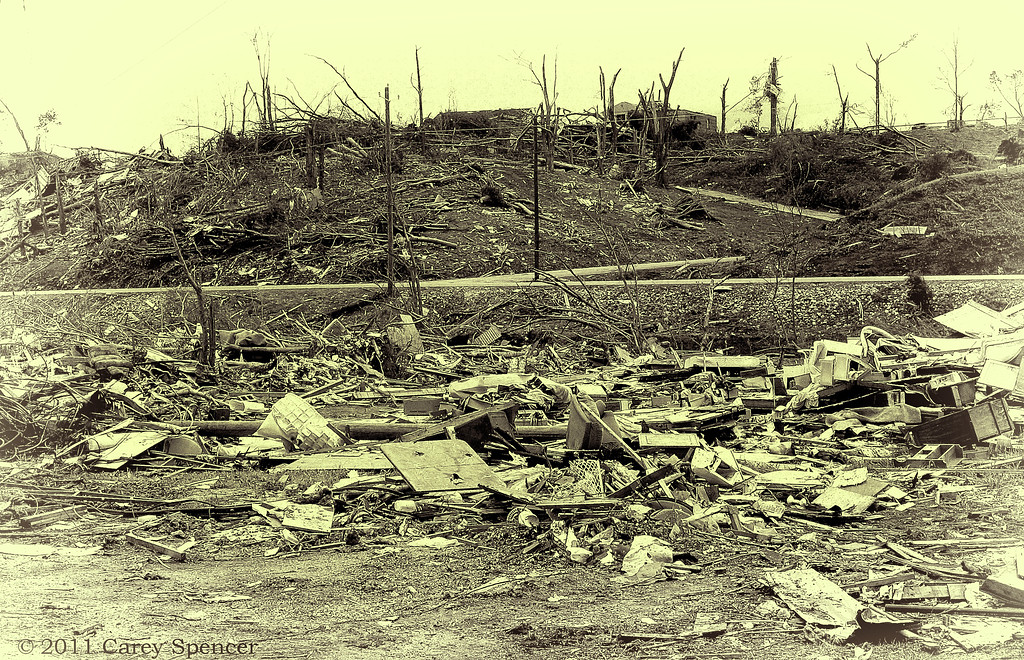 Battle Scene - Many areas in central Alabama resembled a battlefield after the horrific tornadoes that swept through the area in April 2011.