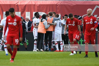 TORONTO, CANADA - Apr 06: during the Major League Soccer match between Toronto FC and Chicago Fire at BMO Field. Photo: Michael Fayehun/F10 Sports Photography