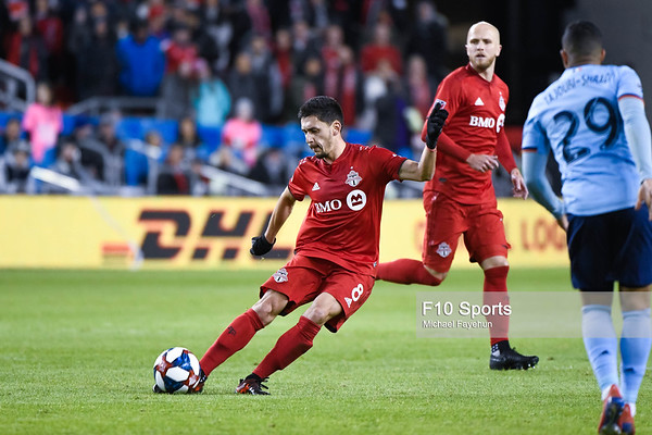 TORONTO, CANADA - Mar 29: during the Major League Soccer match between Toronto FC and New York City FC at BMO Field. Photo: Michael Fayehun/F10 Sports Photography