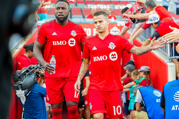 Major League Soccer match between Toronto FC and New York City FC at BMO Field on August 12, 2018 in Toronto, Ontario Canada. Photo: Michael Fayehun/F10 Sports Photography