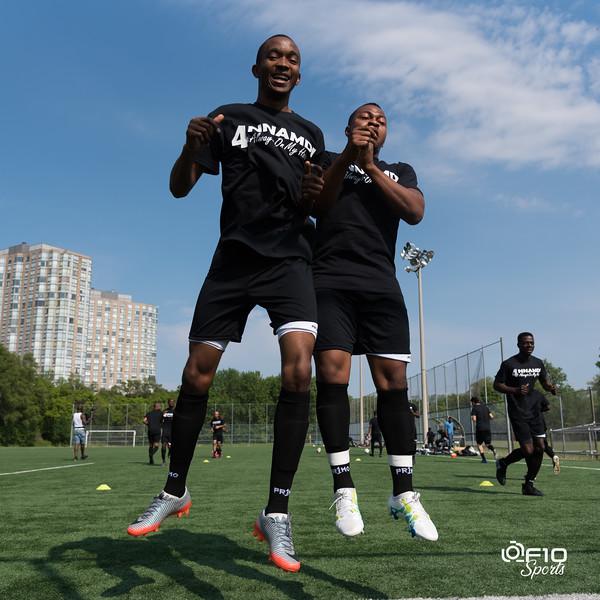 Ontario Soccer League match between Toronto Golden Eagles vs HNNK Dalmacija at Weston Lions Park on May 26, 2018 in Toronto, Ontario Canada. Photo: Michael Fayehun/F10 Sports Photography