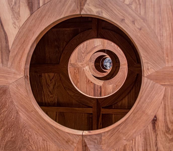 Art Gallery of Ontario, looking through an Ai Weiwei sculpture
