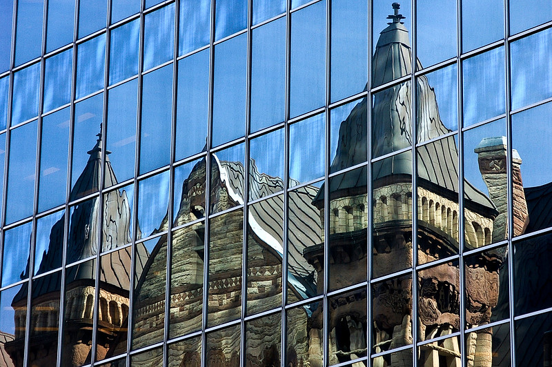 Old City Hall Reflected