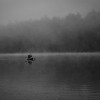 Morning mist on Blue Mountain Lake
