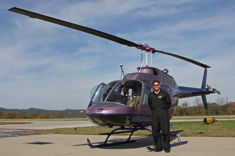 Our very experienced pilot, Brett Degarmo.