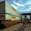 50 Ton crane unloads JBH intermodal rail container