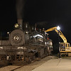 MSR&LHA President Perry Queener loads Shay #6 with coal on Thursday July 10.