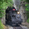 One of the many unknowns on the inaugural steam trip to Elkins was will Western Maryland Shay #6 fit through Kelley Mountain tunnel. Well minus her whistle and with less than four inches to spare at some points in the tunnel, Cass Scenic Railroad Shay #6 pulled out of the tunnel and was on her way back to Cass pulling the return trip of the MSRLHA, Cass RR, and DGVRR sponsored excursion.