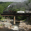For the first time in nearly forty years, the former WM Railroad High trestle welcomes steam again as Western Maryland Shay #6 pulls a MSRLHA, D&GVRR, CSRR sponsored photo charter from Cass, Wv To Elkins, WV. A 67 mile trip which tookapproximately 11 hours to complete. I have waited for this moment my whole life.
