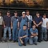l-r top row CSRR Conductor Bob Starke, CSRR Engineer Danny Seldomridge, WVC Trainmaster Matt Reese, WVC Conductor Lars Byrne, WVC Mark Smith, WVC Conductor Josh O'Brien, CSRR Fireman Chris Lambert, CSRR Hostler Bill Taylor <br />  <br /> Bottom CSRR Brakemen Shawn Bland, Adam Wright