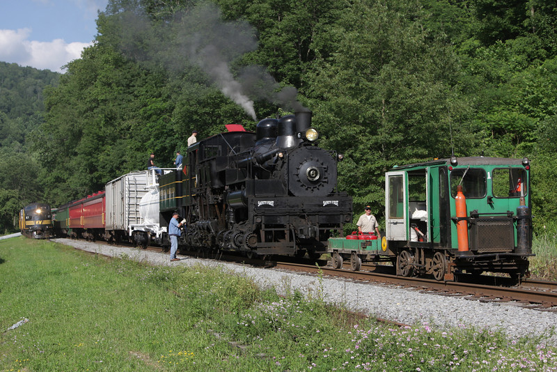 A service stop is made at Bowden, WV.