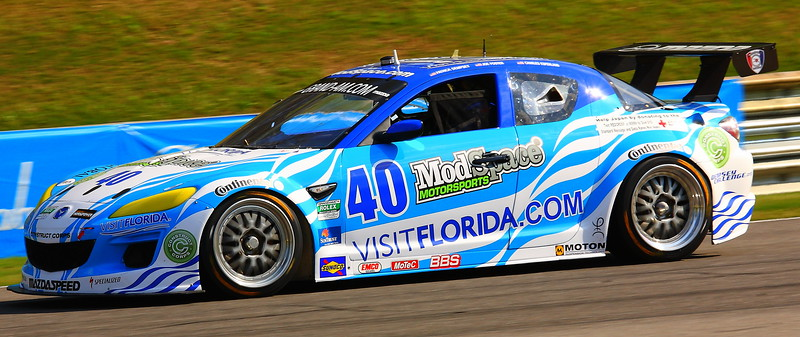 No. 40 ModSpace Visit Florida Grand-Am Rolex Mazda RX-8 GT Patrick Dempsey car Patrick Plays Dylan Gould in Transformers Dark of the Moon