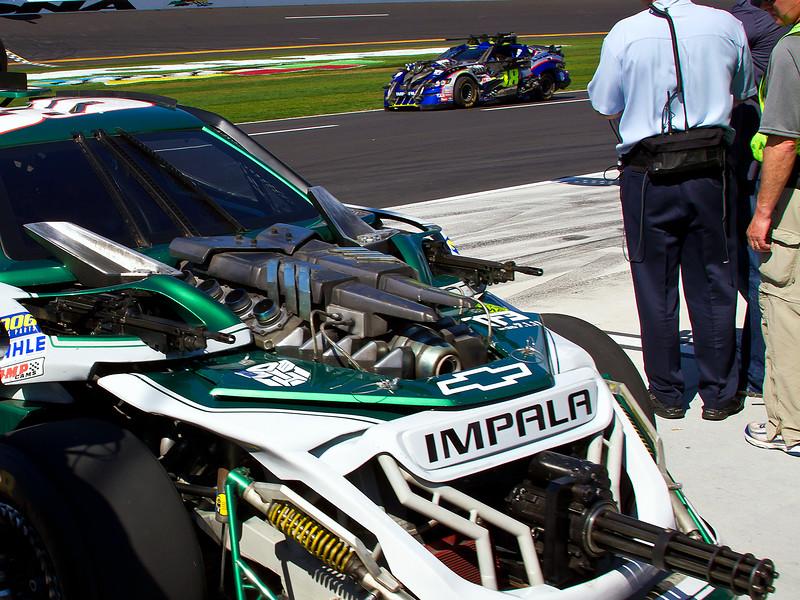 Dale Earnhardt Jr. No. 88 Transformers 3 Autobot Car at 2011 Daytona 500