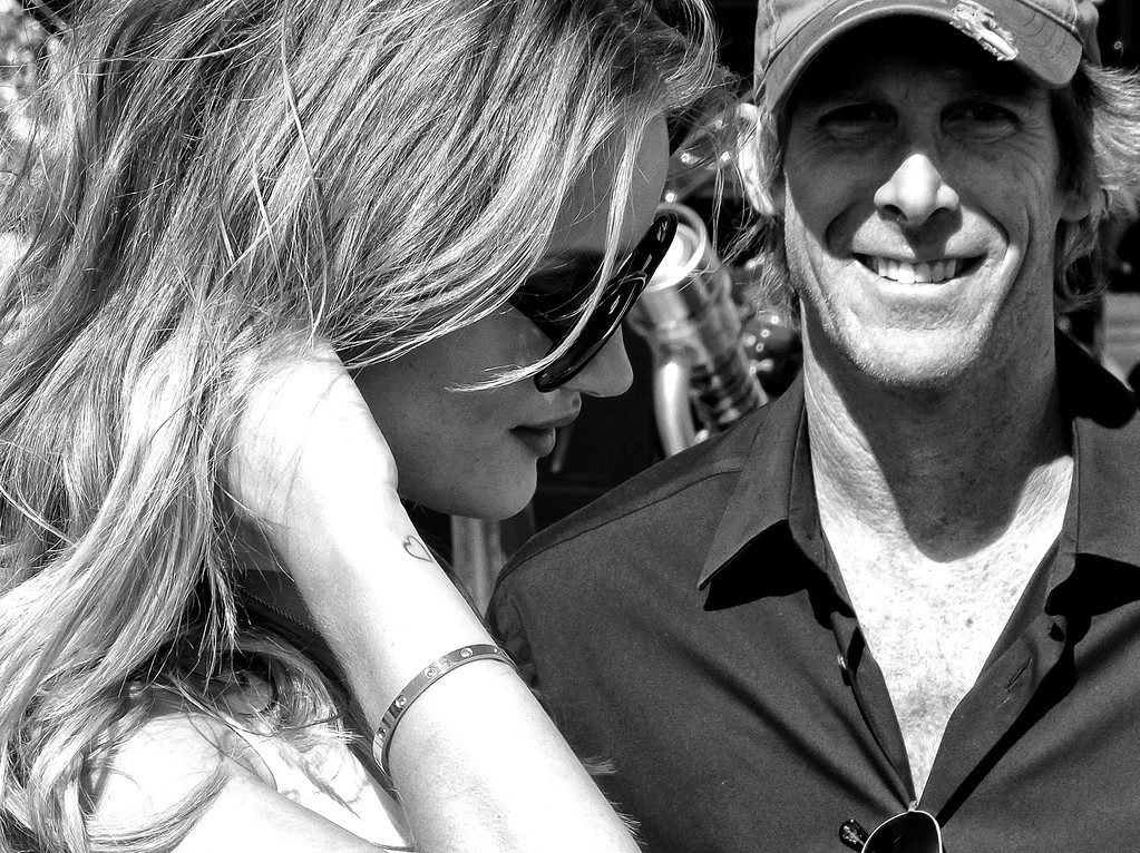 Transformers 3 Rosie Huntington-Whitele y and Director Michael Bay Grand Marshalls 2011 Daytona 500