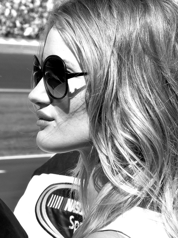 Beautiful British Victoria's Secret Model Transformers Dark of the Moon Actress Rosie Huntington-Whiteley at 2011 Daytona 50