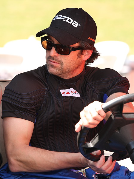 Patrick Demsey Grand-Am Rolex owner and driver star of Grey's Anatomy and Transformers 3 at Barber Motorsports Park
