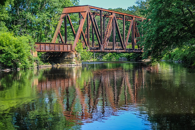 Railroad Trestle Reflection