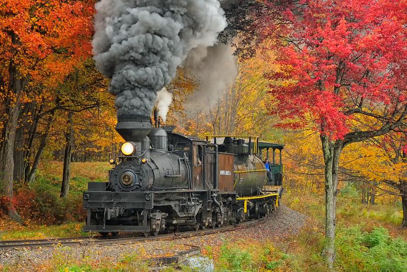 Cass Scenic Railroad 1/ 125s, at f/6.7 || E.Comp:0 || 170mm || WB: AUTO 0. || ISO: 800 || Tone:  || Sharp:  || Camera: NIKON D700on: 2014:10:12 11:01:42