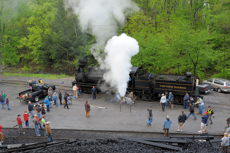 Cass Scenic Railroad State Park 1/ 60s, at f/8 || E.Comp:0 || 28mm || WB: AUTO 0. || ISO: 400 || Tone:  || Sharp:  || Camera: NIKON D700on: 2013:05:18 18:50:40