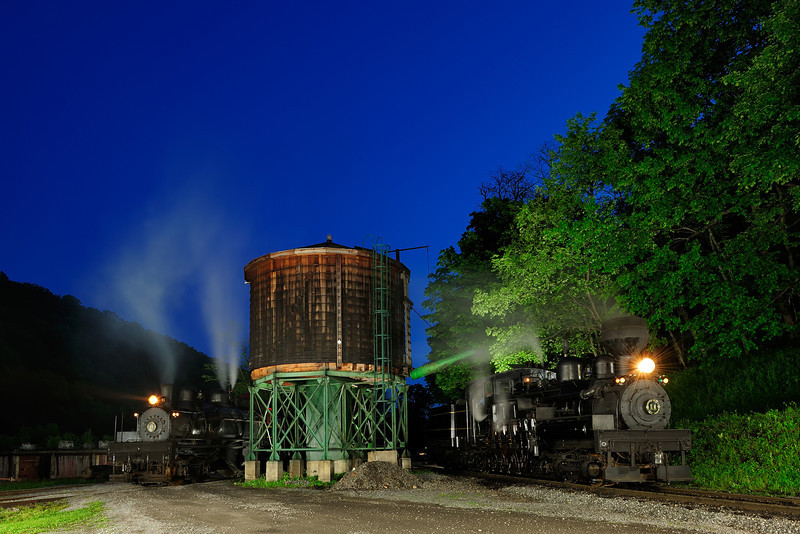 Nighttime at the Water Tank