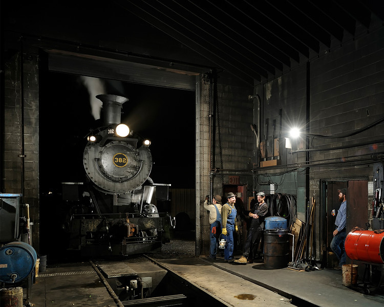 N&W 382 (475) at the Strasburg Roundhouse
