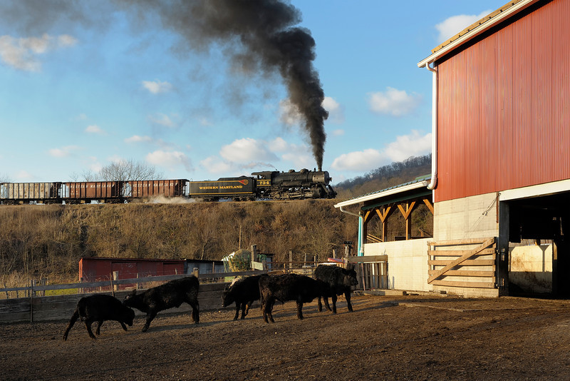 Western Maryland Scenic Railroad 1/ 250s, at f/8 || E.Comp:0 || 50mm || WB: AUTO 0. || ISO: 400 || Tone:  || Sharp:  || Camera: NIKON D700on: 2012:01:07 08:51:54