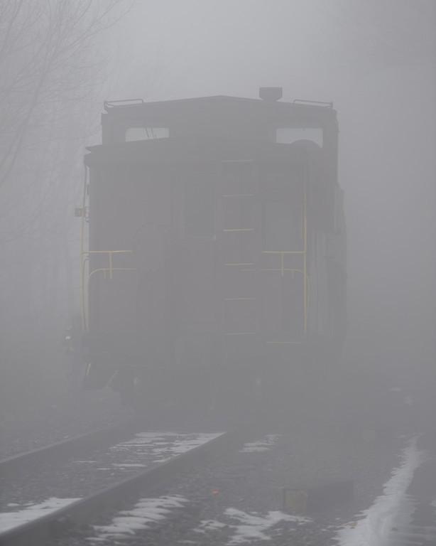 Ghost Train Caboose - Rt 40 Bridge