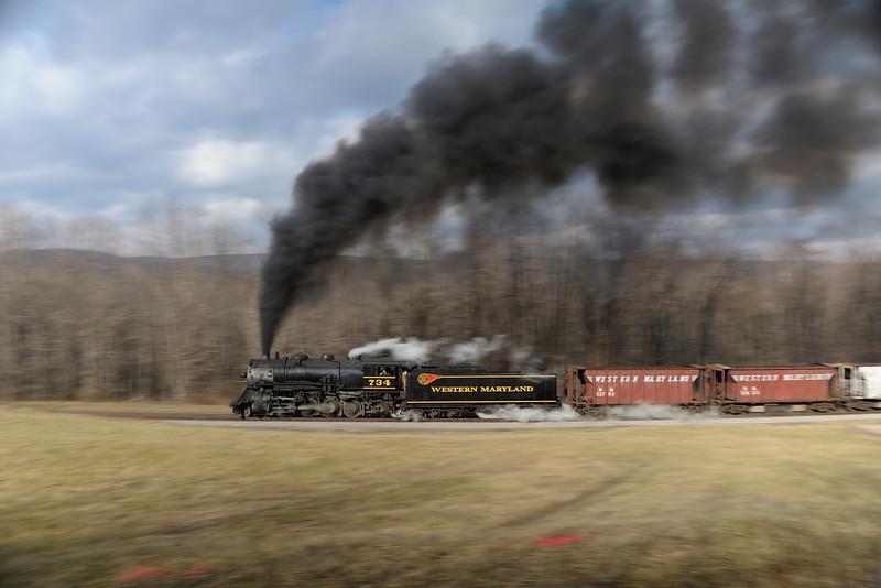 Western Maryland Scenic Railroad 1/ 10s, at f/5.6 || E.Comp:0 || 28mm || WB: AUTO 0. || ISO: 200 || Tone:  || Sharp:  || Camera: NIKON D700on: 2012:01:07 11:36:39