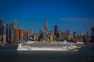 Norwegian Cruise Leaving New York City