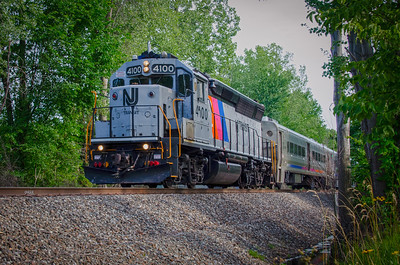 New Jersey Transit Train - Oradell, New Jersey
