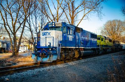 New York Susquehanna and Western Railroad - Elmwood Park Road Crossing