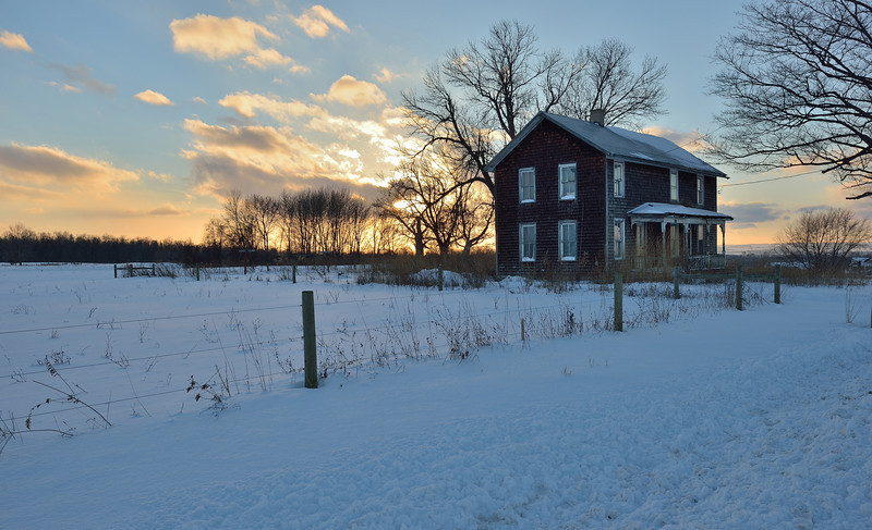 A tenant house south of Avon.  15 degrees on nearly the shortest day of the year.  Nikon D600 and 16-35mm lens (December 2013).