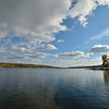 Looking south from the dock at Long Point Park on Conesus Lake.  Nikon D600 and Samyang 14mm lens (October 2014).