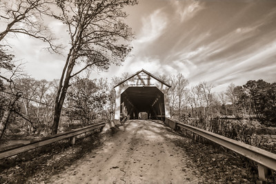 Cox Ford Covered Bridge - Front