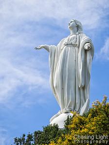 The Virgin Mary on Cerro San Cristóbal