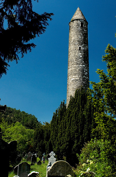 6.7.2007 -- The Round Tower in Glendalough, County Wicklow