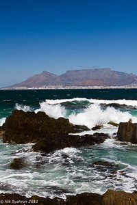 Table Mountain viewed from Robben Island