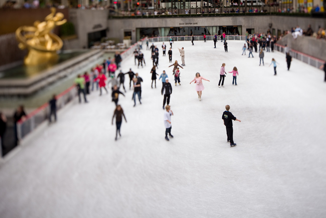 Rockefeller Center ice rink  Photographing New York City. http://amzn.to/dfgnyc