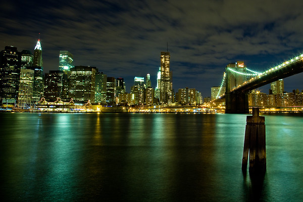 Brooklyn Bridge and the South Street Seaport from DUMBO  Photographing New York City. http://amzn.to/dfgnyc