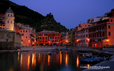 Summer Evening in Vernazza © 2004 Colleen M. Griffith. All Rights Reserved.  This material may not be published, broadcast, modified, or redistributed without written agreement with the creator.  This image is registered with the US Copyright Office.   www.colleenmgriffith.com www.facebook.com/colleen.griffith